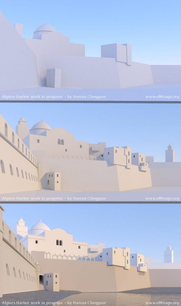 Algiers harbor 1800